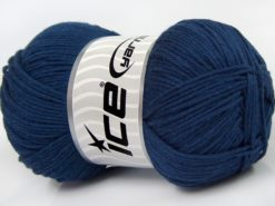 Lot of 4 x 100gr Skeins Ice Yarns BABY COTTON 100GR (100% Giza Cotton) Yarn Navy
