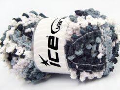 Lot of 4 x 100gr Skeins Ice Yarns BOUCLERON CHAIN Yarn White Beige Grey Black
