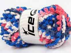 Lot of 4 x 100gr Skeins Ice Yarns BOUCLERON CHAIN Yarn White Salmon Blue Shades