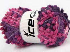 Lot of 4 x 100gr Skeins Ice Yarns BOUCLERON CHAIN Yarn Pink Shades Purple Shades