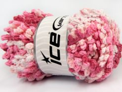 Lot of 4 x 100gr Skeins Ice Yarns BOUCLERON CHAIN Yarn White Pink Shades