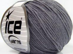 Lot of 8 Skeins Ice Yarns BABY MODAL (55% Modal) Hand Knitting Yarn Dark Grey