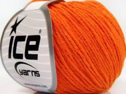 Lot of 8 Skeins Ice Yarns BABY MODAL (55% Modal) Hand Knitting Yarn Orange