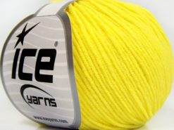 Lot of 8 Skeins Ice Yarns BABY MODAL (55% Modal) Hand Knitting Yarn Neon Yellow