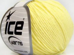 Lot of 8 Skeins Ice Yarns BABY MODAL (55% Modal) Yarn Light Yellow