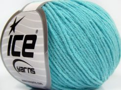 Lot of 8 Skeins Ice Yarns BABY MODAL (55% Modal) Yarn Light Turquoise