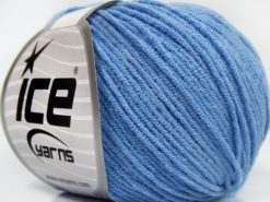 Lot of 8 Skeins Ice Yarns BABY MODAL (55% Modal) Hand Knitting Yarn Light Blue