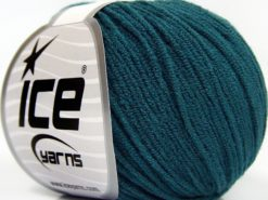 Lot of 8 Skeins Ice Yarns BABY MODAL (55% Modal) Hand Knitting Yarn Teal