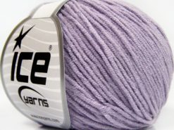Lot of 8 Skeins Ice Yarns BABY MODAL (55% Modal) Hand Knitting Yarn Light Lilac