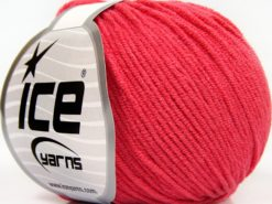 Lot of 8 Skeins Ice Yarns BABY MODAL (55% Modal) Hand Knitting Yarn Dark Salmon