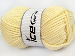 Lot of 4 x 100gr Skeins Ice Yarns MERINO CHUNKY (50% Merino Wool) Yarn Light Cream