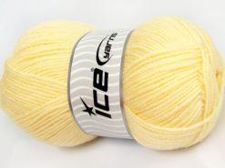 Lot of 4 x 100gr Skeins Ice Yarns SALE WINTER (50% Wool) Yarn Light Yellow