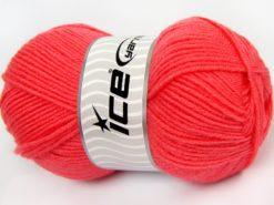 Lot of 4 x 100gr Skeins Ice Yarns SALE WINTER (50% Wool) Yarn Salmon