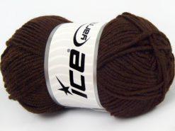 Lot of 8 Skeins Ice Yarns ELITE BABY Hand Knitting Yarn Dark Brown
