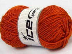 Lot of 8 Skeins Ice Yarns ELITE BABY Hand Knitting Yarn Orange