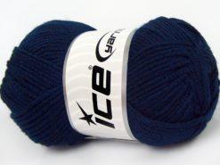 Lot of 8 Skeins Ice Yarns ELITE BABY Hand Knitting Yarn Dark Navy