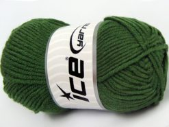 Lot of 8 Skeins Ice Yarns ELITE BABY Hand Knitting Yarn Dark Green