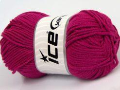 Lot of 8 Skeins Ice Yarns ELITE BABY Hand Knitting Yarn Fuchsia