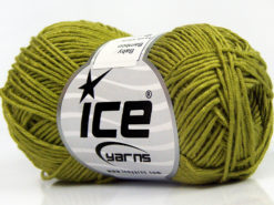 Lot of 8 Skeins Ice Yarns BABY BAMBOO (50% Bamboo) Yarn Light Green