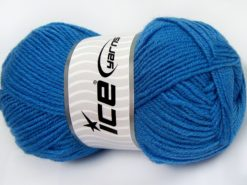 Lot of 4 x 100gr Skeins Ice Yarns MERINO GOLD LIGHT (60% Merino Wool) Yarn Dark Blue