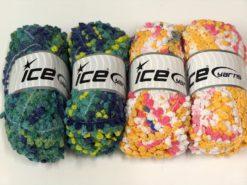 Lot of 4 x 100gr Skeins Ice Yarns BOUCLERON CHAIN Hand Knitting Yarn Mixed Lot