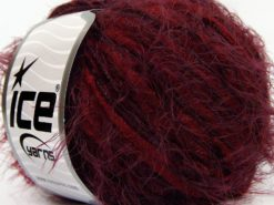 Lot of 8 Skeins Ice Yarns TECHNO CHENILLE WORSTED (60% MicroFiber) Yarn Burgundy Maroon