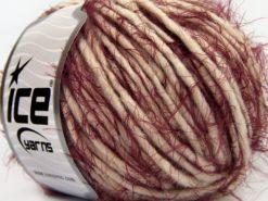 Lot of 8 Skeins Ice Yarns TECHNO ETNO (15% Alpaca 30% Merino Wool) Yarn Light Beige Burgundy