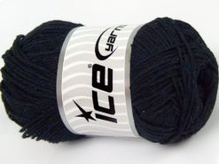 Lot of 4 x 100gr Skeins Ice Yarns NATURAL COTTON WORSTED (100% Cotton) Yarn Anthracite Black