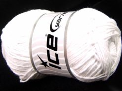 Lot of 4 x 100gr Skeins Ice Yarns NATURAL COTTON WORSTED (100% Cotton) Yarn White