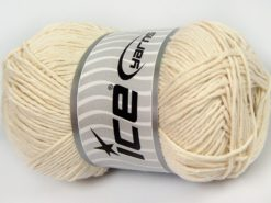 Lot of 4 x 100gr Skeins Ice Yarns NATURAL COTTON WORSTED (100% Cotton) Yarn Ecru