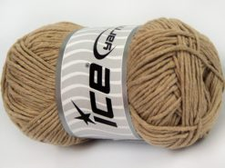 Lot of 4 x 100gr Skeins Ice Yarns NATURAL COTTON WORSTED (100% Cotton) Yarn Beige