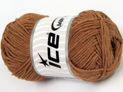 Lot of 4 x 100gr Skeins Ice Yarns NATURAL COTTON WORSTED (100% Cotton) Yarn Light Brown