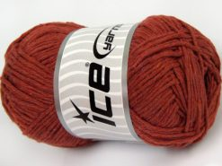 Lot of 4 x 100gr Skeins Ice Yarns NATURAL COTTON WORSTED (100% Cotton) Yarn Light Copper