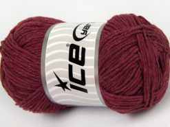 Lot of 4 x 100gr Skeins Ice Yarns NATURAL COTTON WORSTED (100% Cotton) Yarn Burgundy
