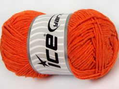 Lot of 4 x 100gr Skeins Ice Yarns NATURAL COTTON WORSTED (100% Cotton) Yarn Orange