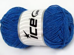 Lot of 4 x 100gr Skeins Ice Yarns NATURAL COTTON WORSTED (100% Cotton) Yarn Blue