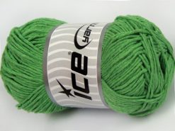 Lot of 4 x 100gr Skeins Ice Yarns NATURAL COTTON WORSTED (100% Cotton) Yarn Light Green