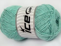 Lot of 4 x 100gr Skeins Ice Yarns NATURAL COTTON WORSTED (100% Cotton) Yarn Mint Green