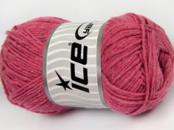 Lot of 4 x 100gr Skeins Ice Yarns NATURAL COTTON WORSTED (100% Cotton) Yarn Candy Pink