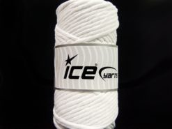 250 gr ICE YARNS NATURAL COTTON JUMBO (100% Cotton) Hand Knitting Yarn White