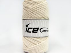 250 gr ICE YARNS NATURAL COTTON JUMBO (100% Cotton) Hand Knitting Yarn Cream