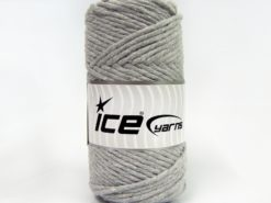 250 gr ICE YARNS NATURAL COTTON JUMBO (100% Cotton) Yarn Light Grey