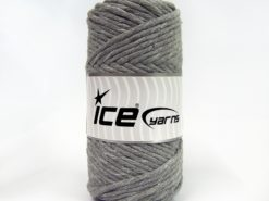250 gr ICE YARNS NATURAL COTTON JUMBO (100% Cotton) Hand Knitting Yarn Grey