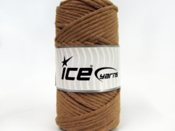 250 gr ICE YARNS NATURAL COTTON JUMBO (100% Cotton) Yarn Light Brown