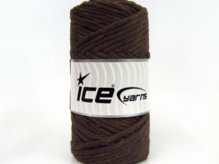 250 gr ICE YARNS NATURAL COTTON JUMBO (100% Cotton) Yarn Dark Brown