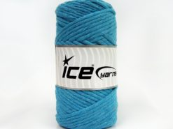250 gr ICE YARNS NATURAL COTTON JUMBO (100% Cotton) Yarn Turquoise