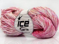 Lot of 3 x 100gr Skeins Ice Yarns SPRAY PAINT (40% Cotton) Yarn Pink Shades