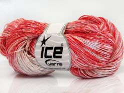 Lot of 3 x 100gr Skeins Ice Yarns SPRAY PAINT (40% Cotton) Yarn Red Shades