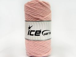 250 gr ICE YARNS NATURAL COTTON JUMBO (100% Cotton) Yarn Baby Pink
