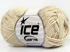 Lot of 8 Skeins Ice Yarns BABY BAMBOO (50% Bamboo) Yarn Light Beige